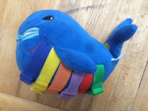 Travel toys, Buckle Toy Whale- ideal for keeping toddlers and older babies busy on a flight or long car journey.