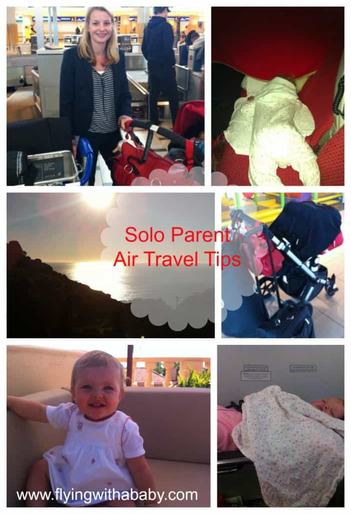 Solo Parent air travel tips, Flying alone with a baby