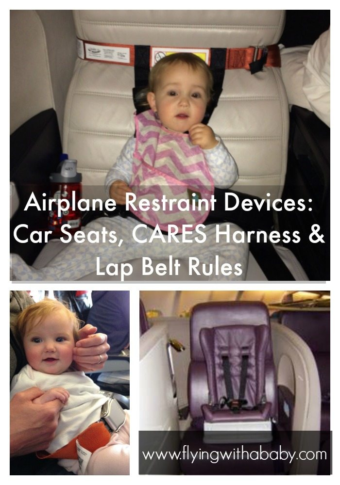 Car Seats & Child Restraint Devices (CRD) On An Airplane.   Car seats are not the only child restraint devices available for use on an airplane with young children. You can use a CARES harness, an infant lap belt or special child restraint device depending on your airline. Discover what the airline rules are, to help you plan whether your car seat can be used on an airplane. #familytravel #carseats #airtravel