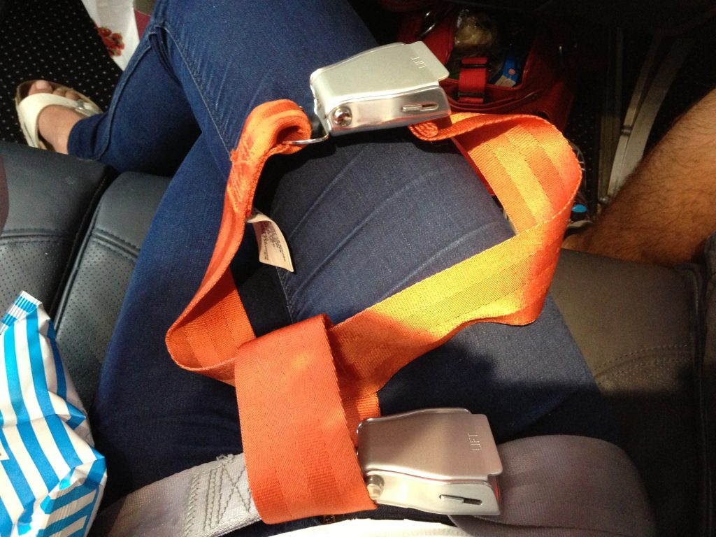 child restraint devices airline lap belt