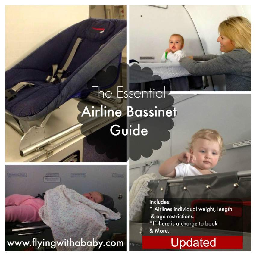 Airplane Bassinet Airline Chart
