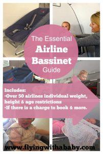 Airline bassinet guide