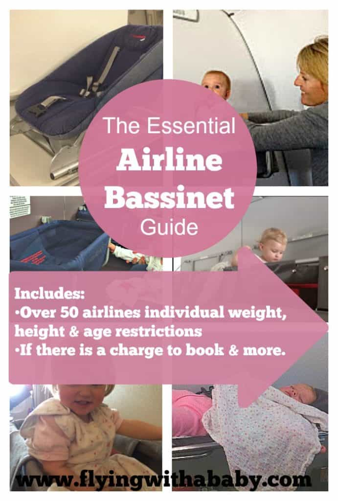 Essential Airline Bassinet Seat Information/Comparison Chart