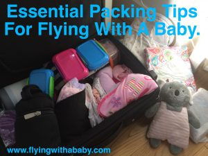 Packing checklist flying with a baby, family travel