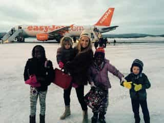 Flying with four children