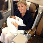 Luxury family adventure Ava's first flight at 5 weeks