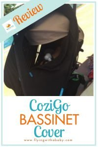We road test the CoziGo (formerly Fly Babee) bassinet cover - ideal for travelling on a plane and keeping baby out of the sun as it is also a UV stroller cover #ad #familytravel