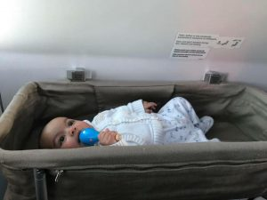 Turkish Airlines bassinet