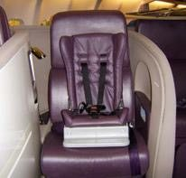 Virgin Atlantic CRD seat child restraint devices, car seat airplane