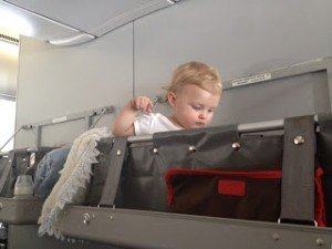 Qantas bassinet, family friendly airline review, airline review