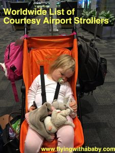 Guide to courtesy airport strollers. A guide to help you plan your holiday and what sort of stroller you will need to bring with you. Several airport provide free ones to use in transit and for departures and/or arrival, which definitely helps flying with young children a little bit easier.