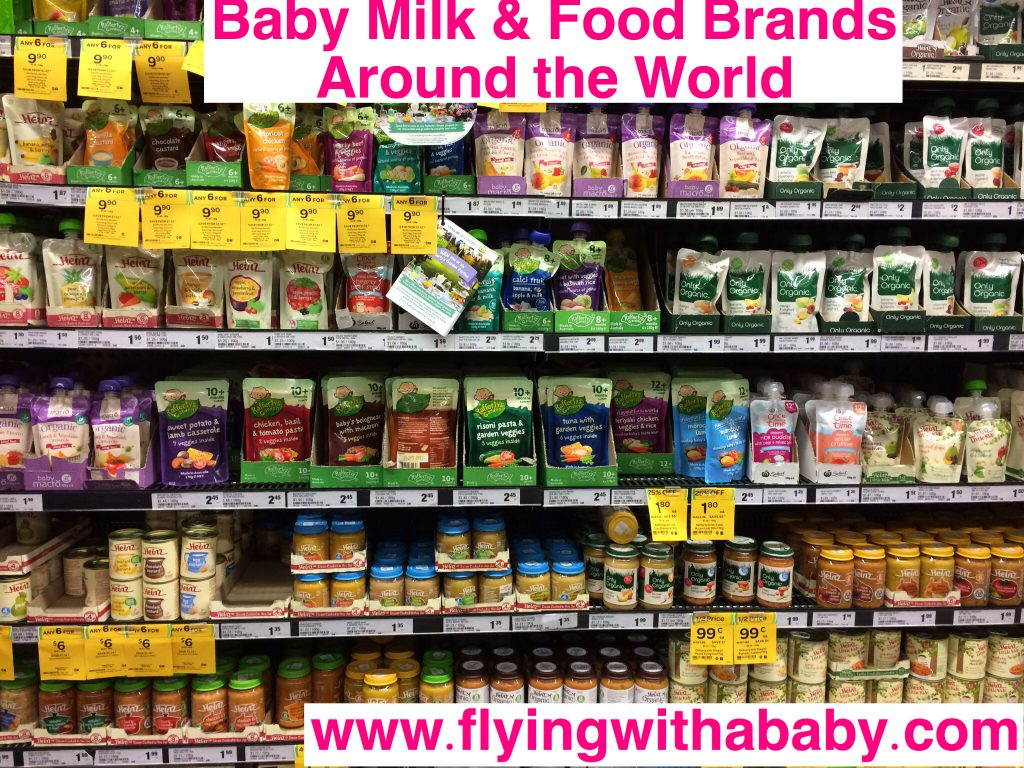 Baby Milk & Baby Food Brands Found Around The World - Flying