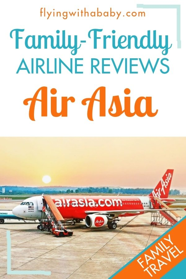 How family-friendly is Air Asia when it comes to flying with babies and young children? Find out more in this review #familytravel #airlinereviews