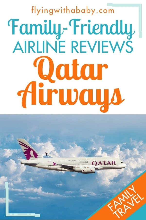 Qatar Airways Review: see what family-friendly features Qatar Airways has to offer families who are travelling with children #familytravel #flyingwithababy #airlinereviews