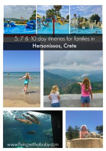 Hersonissos, Crete, itinerary for families