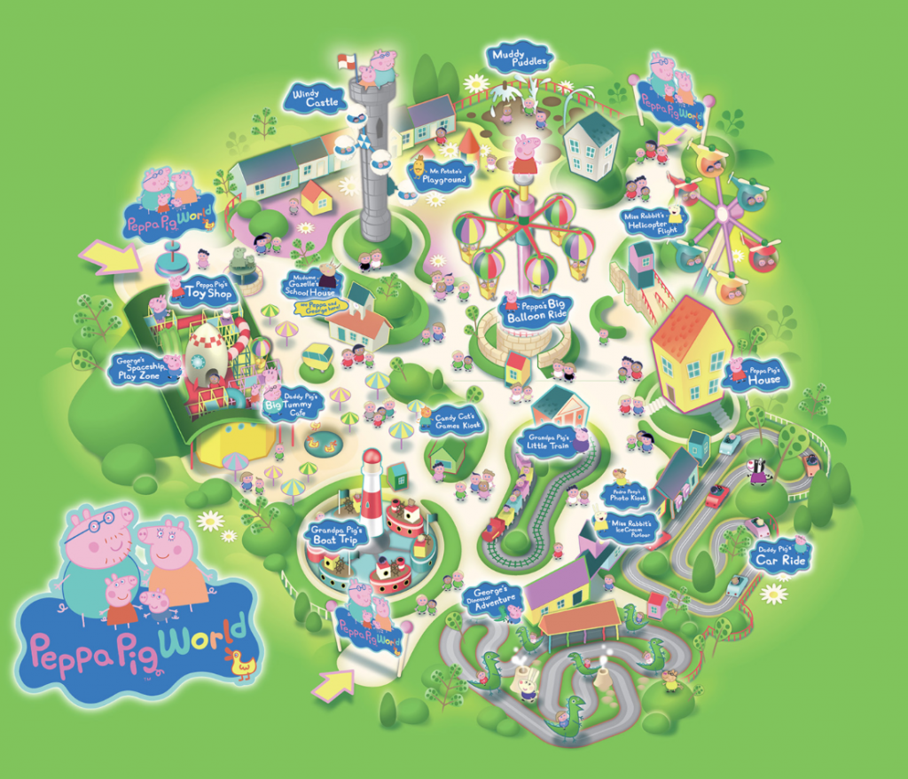 Peppa Pig World map