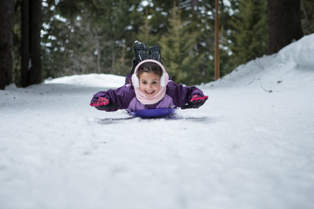 Airboarding in the snow, Winter Activity Holiday Ideas, Pierre et Vacances