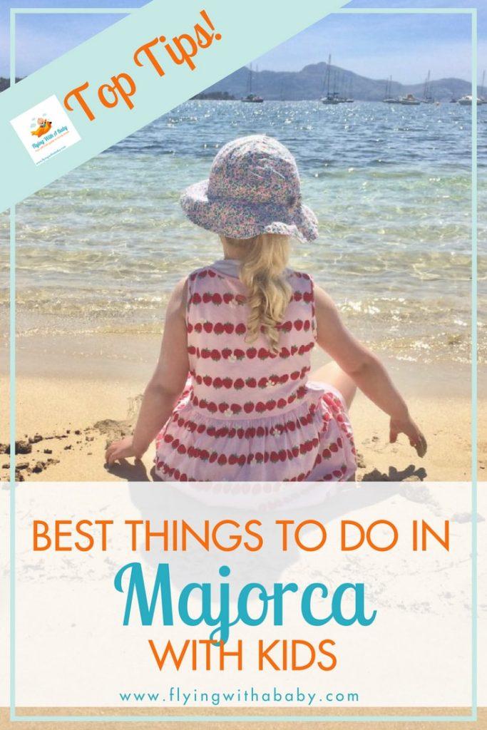 girl on beach in majorca