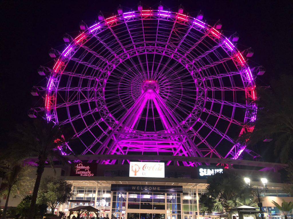 The wheel at Icon Park, Orlando, Florida