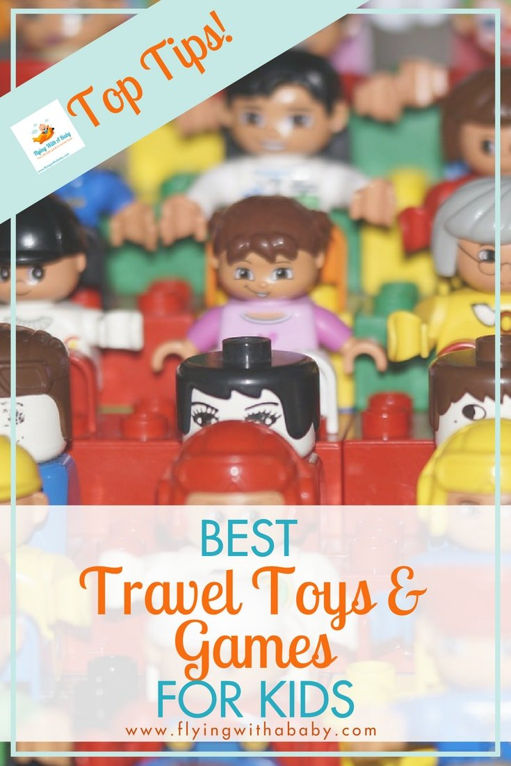 Great ideas for toys and games to take when travelling with kids - keep them amused and occupied!