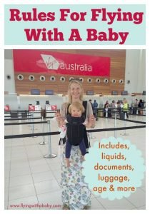 Rules for flying with a baby can often be confusing and occasionally vary from airline to airline. However, the answers below will provide you with a useful knowledge base of what to ask your airline and to double check specific rules. Includes what age can my baby fly?, Can I bring baby food, milk, water on board the flight? DO I need ID for my baby? #flyingwithababy #familytravel #tips