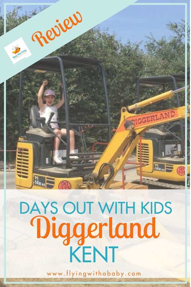 Diggerland, Kent, UK - review of a day out at Diggerland in Kent, where kids can play with real diggers! #daysout