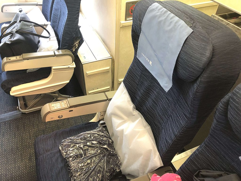 United Airlines Economy Review, economy seat