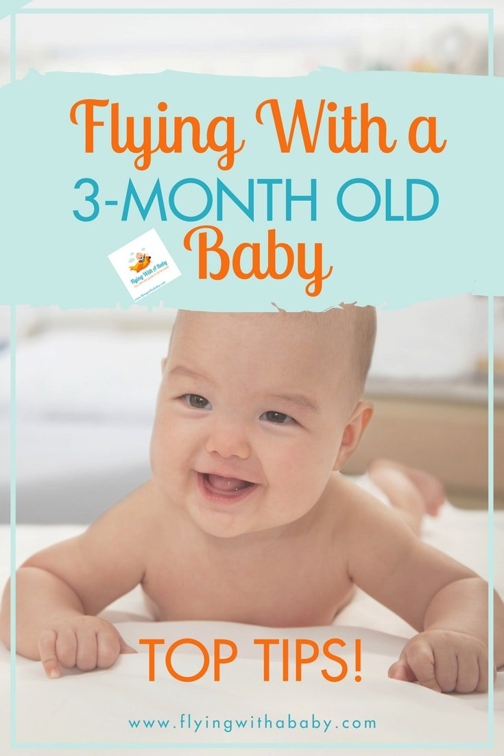 Flying with a young baby soon? Our daughter was 11 weeks old on her first ever flight - read my tips for flying with a 3 month old baby! #familytravel #flyingwithababy