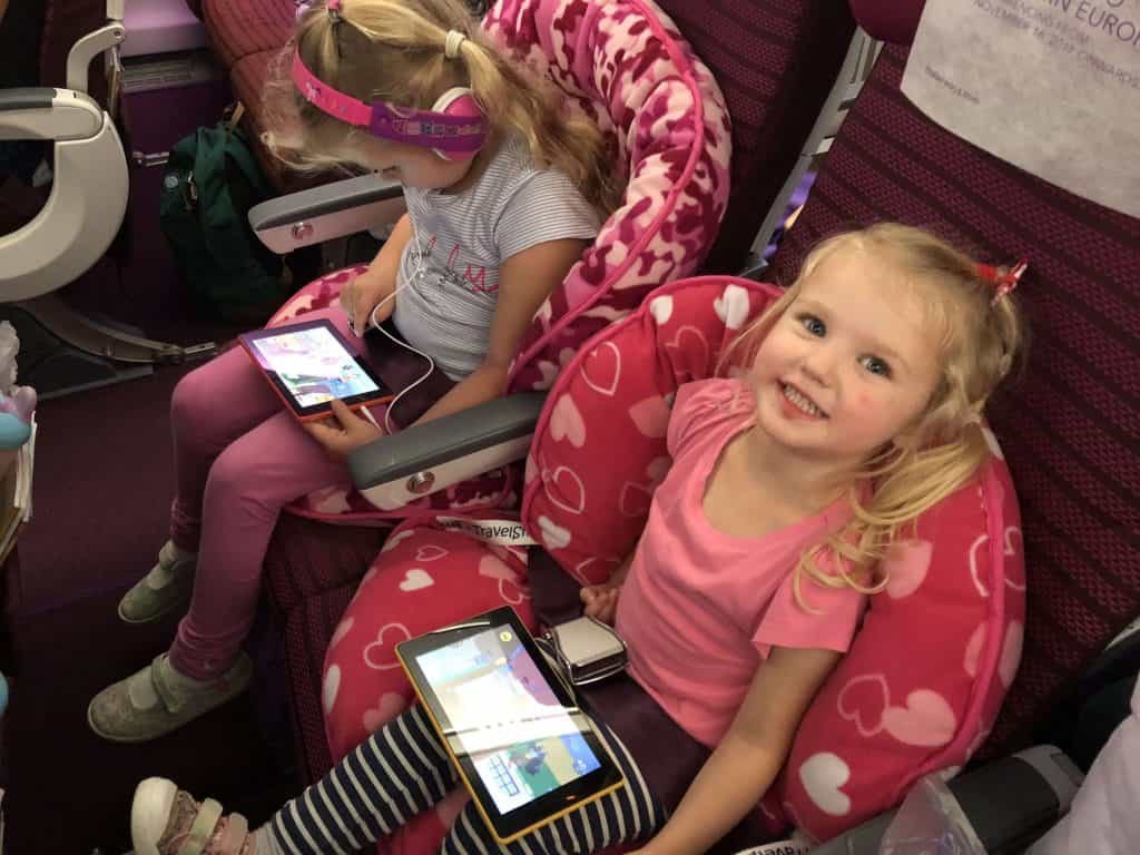Thai Airways with kids, Thai Airways review- long haul