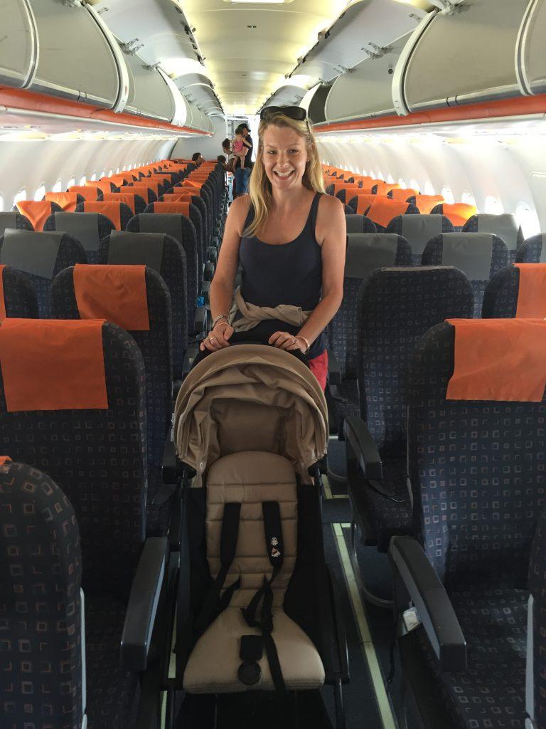 baby zen yoyo plus carry on stroller pushchair in airplane, best stroller for travel as it fits cabin sized overhead lockers? #familytravel