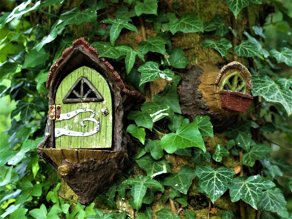 Furzey Gardens - fairy door, things to do near Peppa Pig World