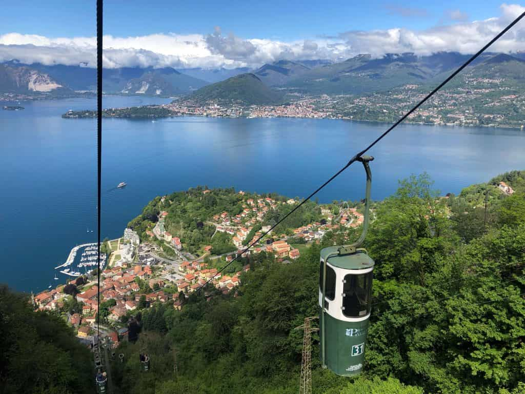 Bucket lift, cable car Laverno, Lake Maggiore