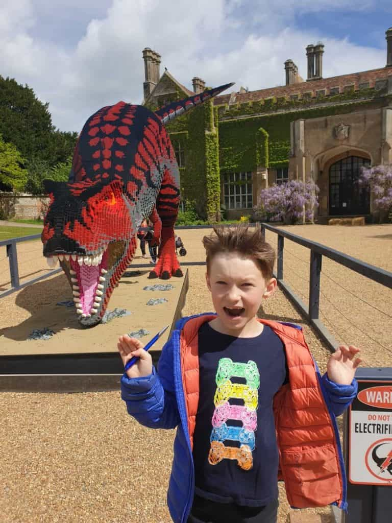 Things to Do with Kids in Hampshire  Marwell Zoo | Brickosaurs, T- rex made of lego