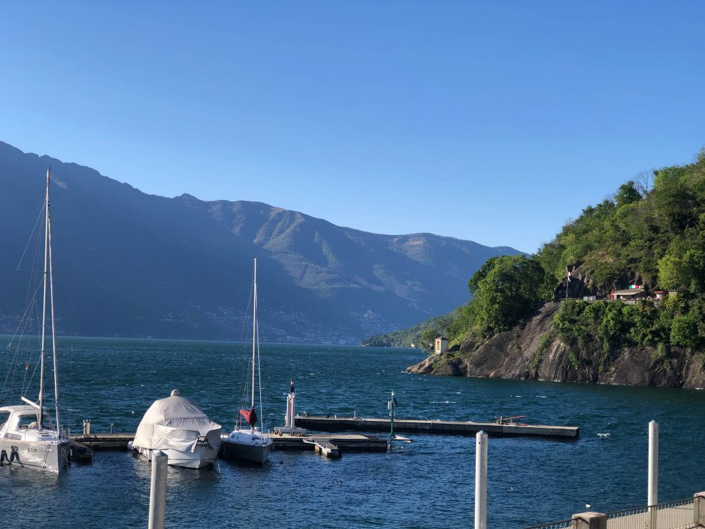 Maccagno pier with view of the lake, Best Places to Stay in Lake Maggiore With Kids