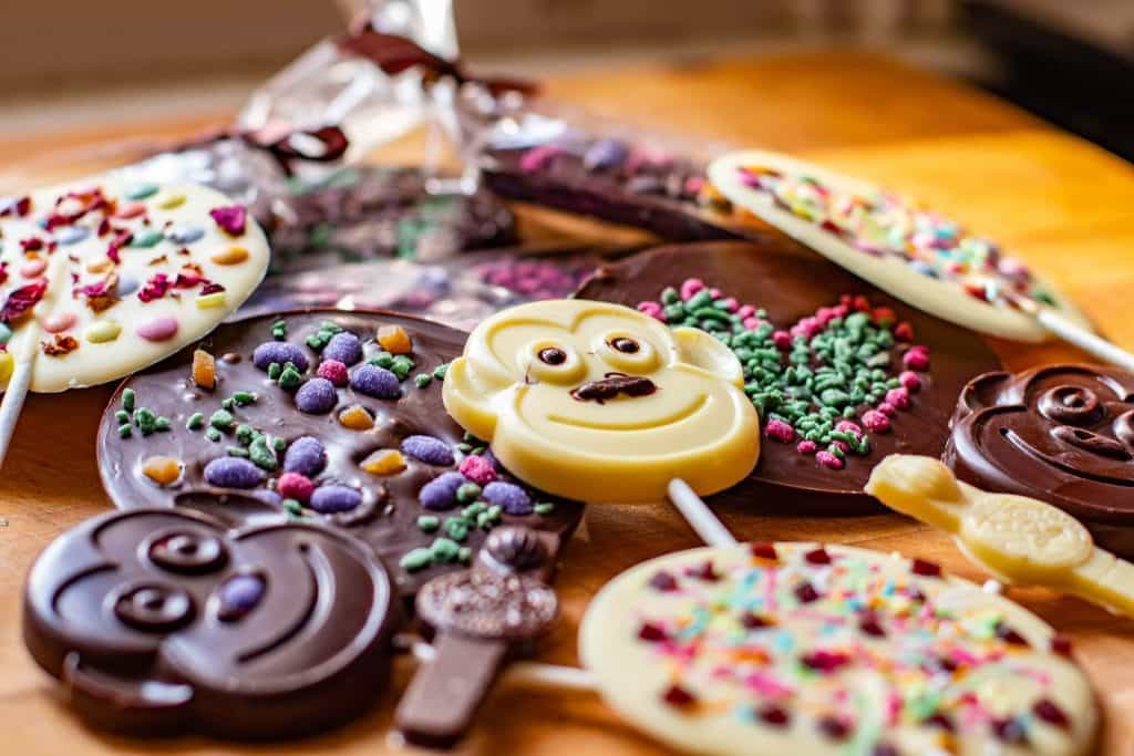 City Breaks With Kids – Things To do In York With Kids, The Chocolate Story, chocolate lollipops