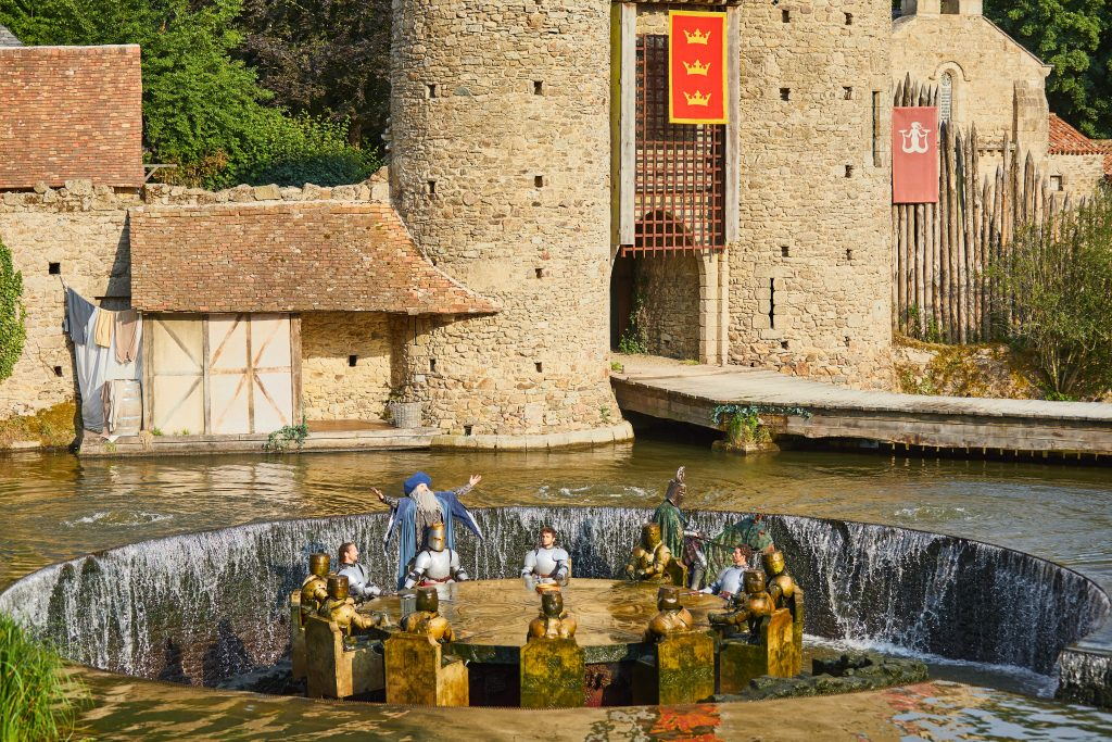 Puy du Fou with kids, knights of the round table