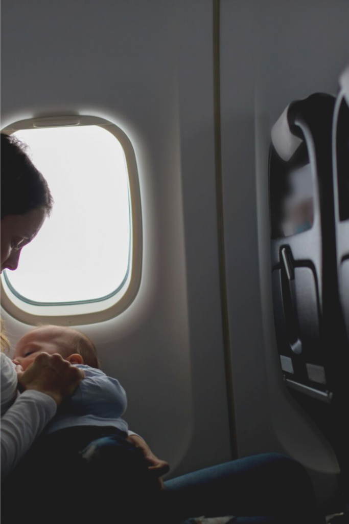 Airline Policies For Breastfeeding, lady feeding on a plane