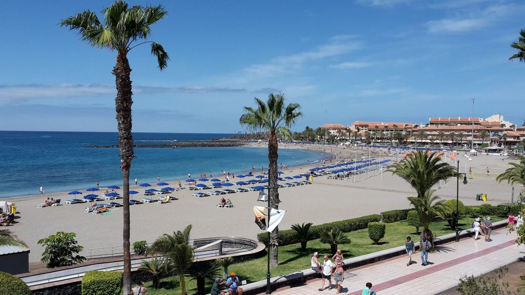 Playa Las Vistas beach, tenerife