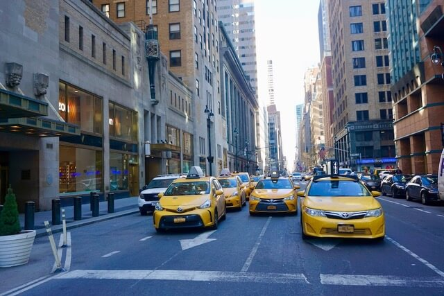 Visiting New York with Kids, yellow taxis in New York