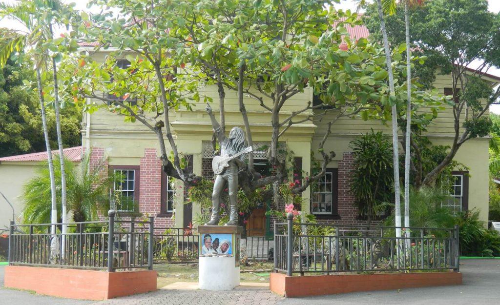 Bob Marley Museum statue