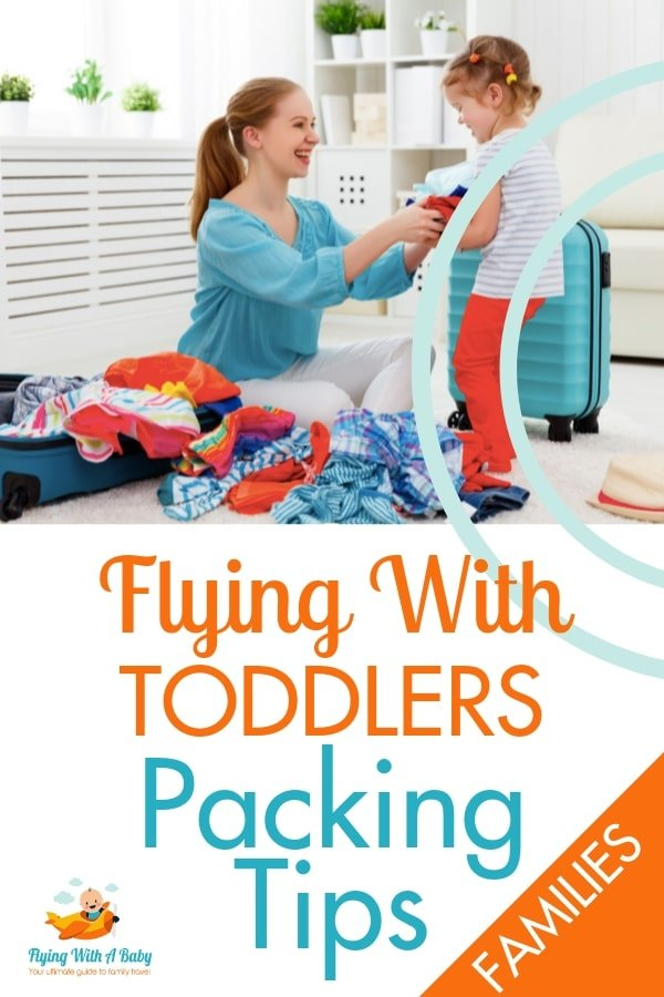 Flying with toddlers - packing list. The ultimate list of all you need to pack for flying with a toddler   Checklist for flying with baby #familytravel #flyingtips