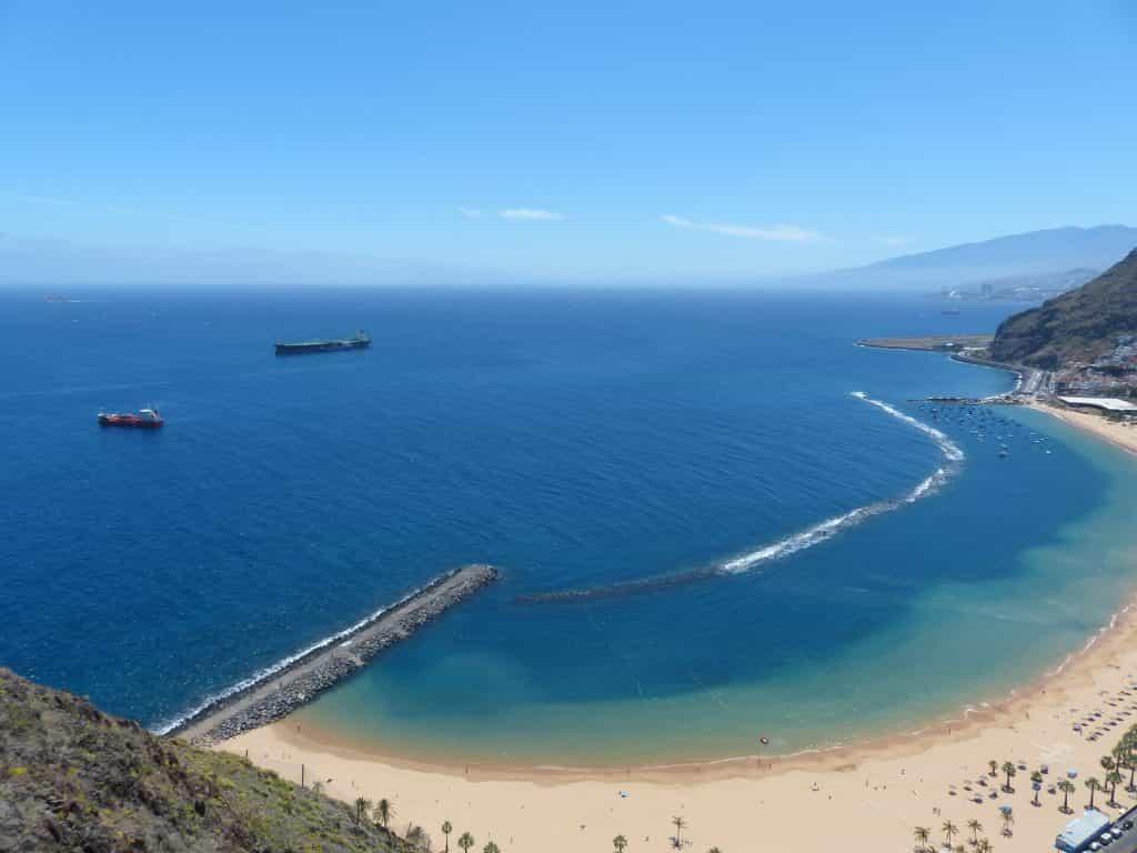 Playa de Las Teresitas beach Tenerife