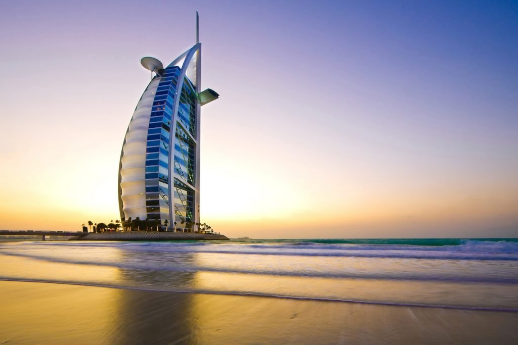 Burj Al Arab Dubai is a hot place in February