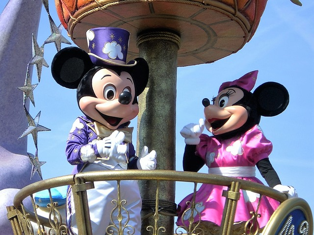 Mickey and Minnie Mouse at Walt Disney World Parade