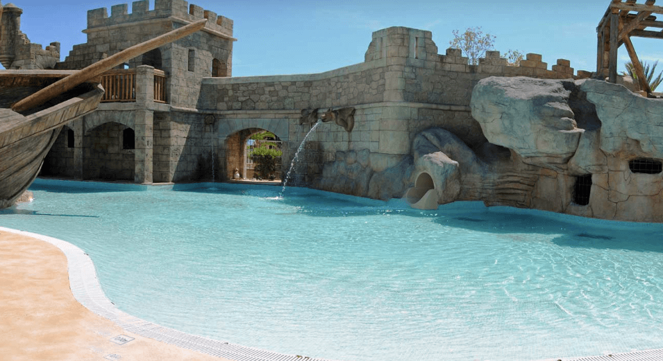 Pirates Village pool with slide, Majorca, one of the Best All-Inclusive Family Hotels in Majorca