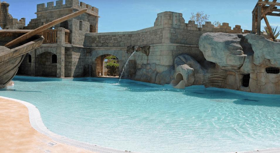 Pirates Village pool with slide, Majorcas