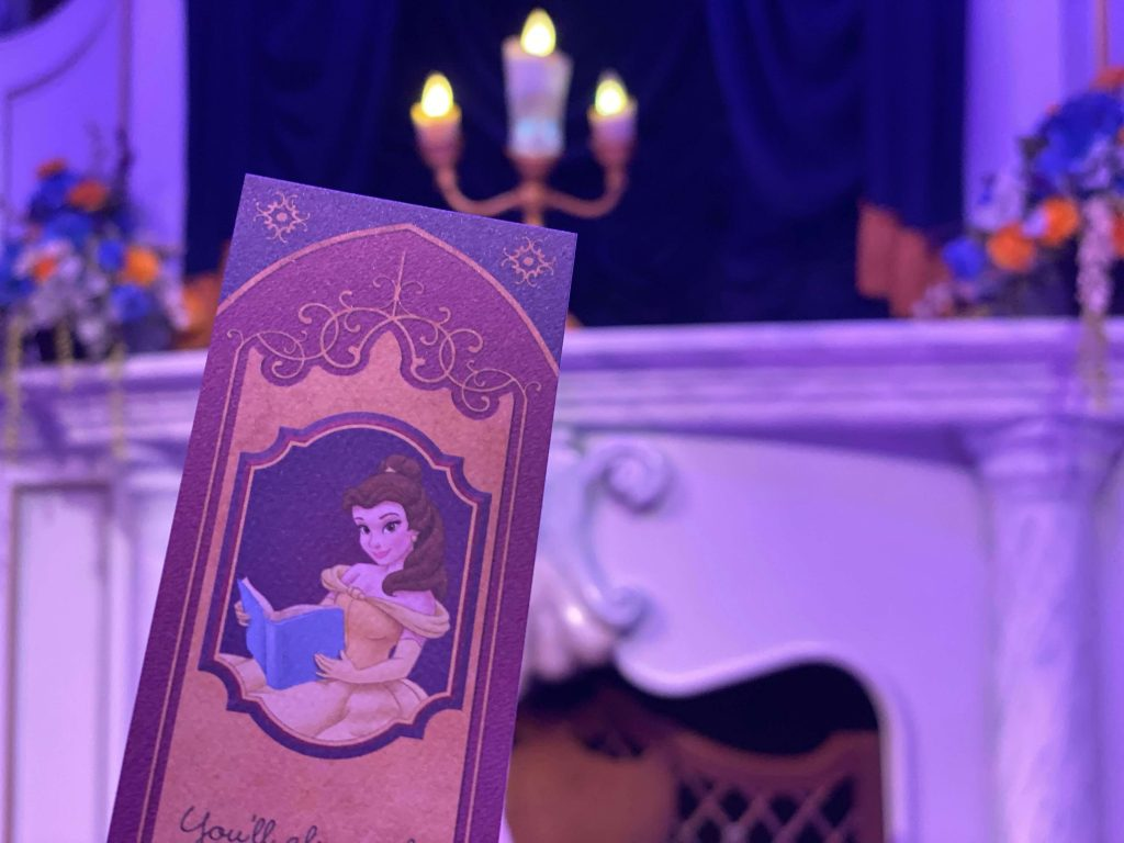 Belle's bookmark at MK