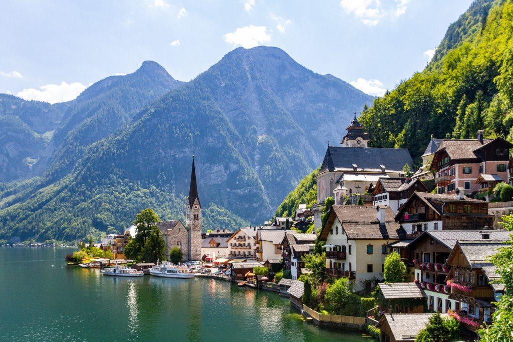 Austrian lakeside town