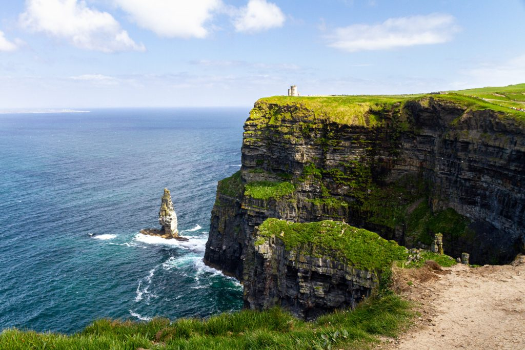The impressive Cliffs Of Moher in County Clare, Ireland