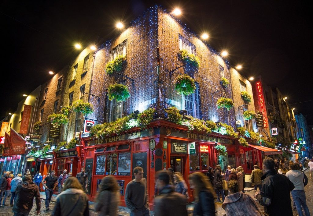 Famous 'Temple Bar' in Dublin, Ireland